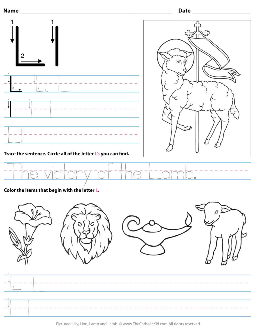 Letter L Worksheets for Preschool Worksheet Catholic Alphabet Letter Lksheet Preschool