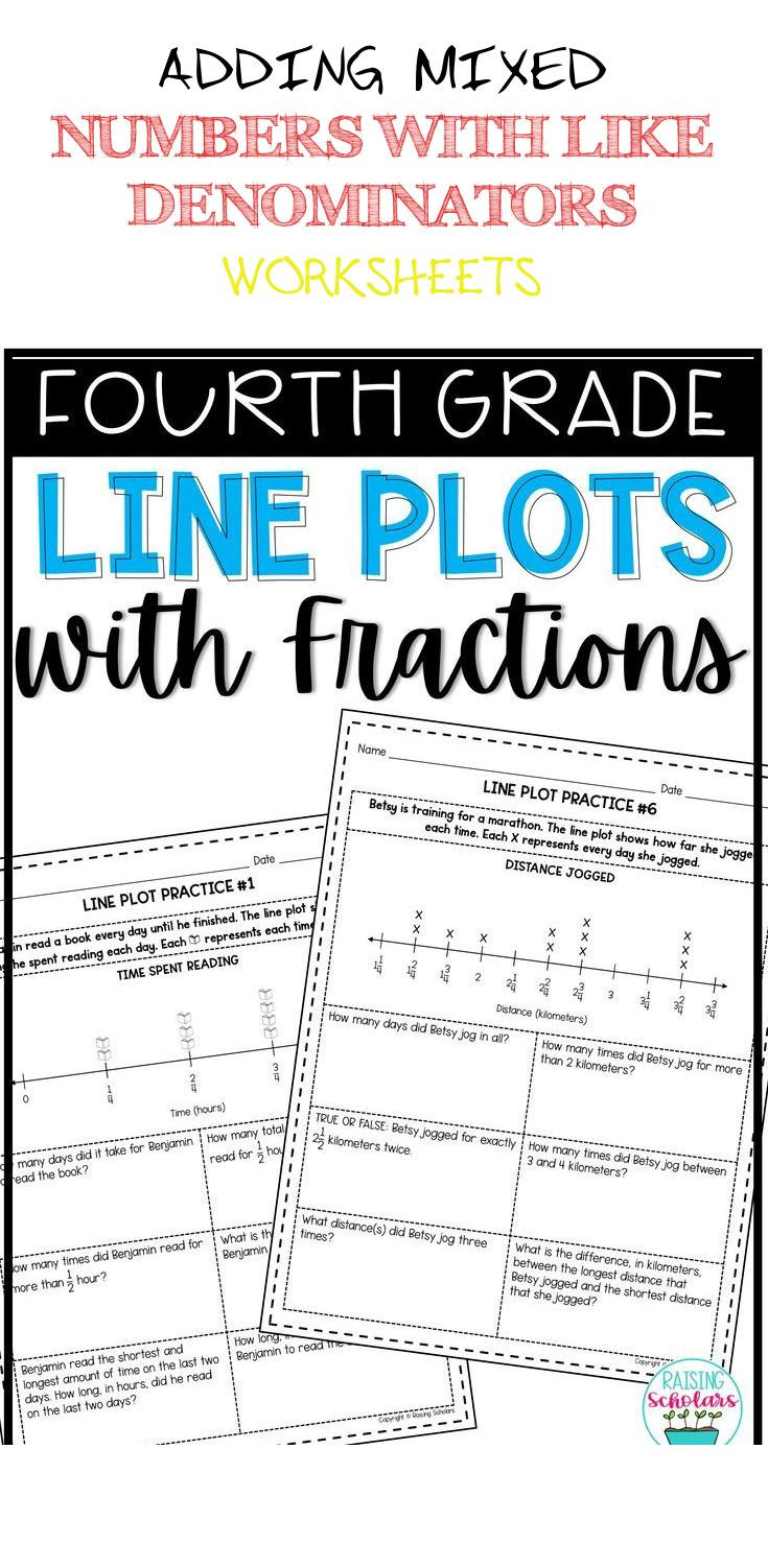 Line Plots Worksheets 4th Grade Adding Mixed Numbers with Like Denominators Worksheets Line