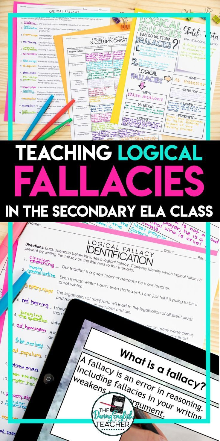 Logical Fallacies Worksheet High School High School English Notes School English Notes