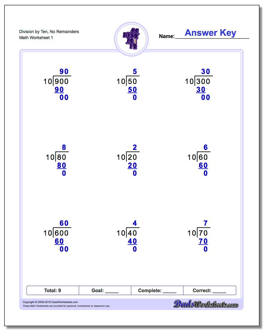 Long Division Worksheets Grade 5 Long Division Worksheets