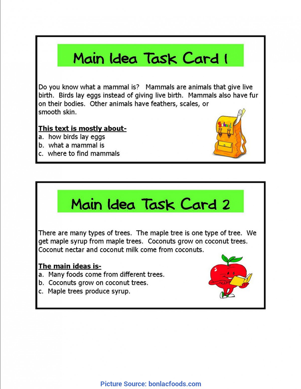 Main Idea First Grade Worksheets Main Idea Kindergarten Worksheets Worksheets for All