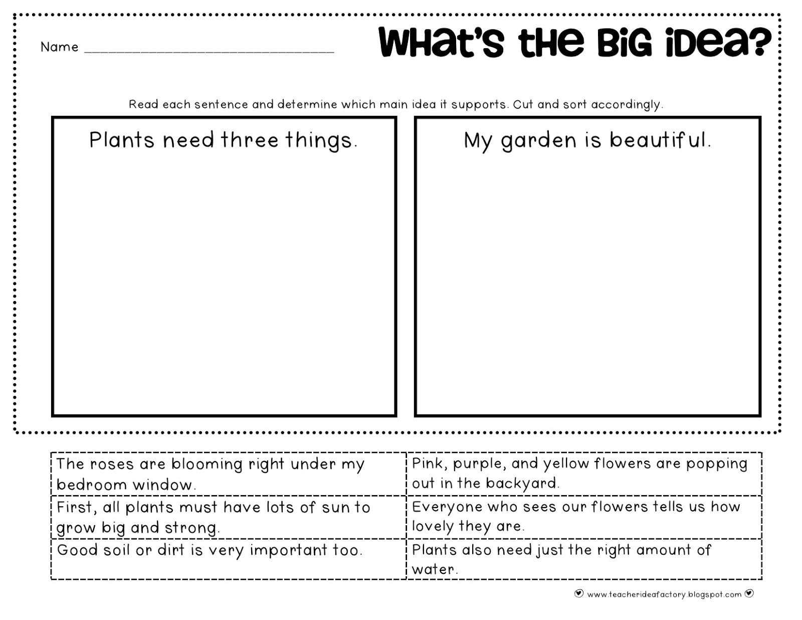 Main Idea First Grade Worksheets Pin On Main Idea and Details Ideas