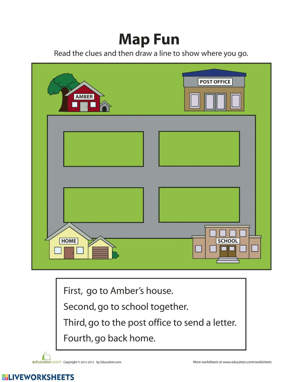 Map Skills Worksheets 3rd Grade Map Skills Worksheet