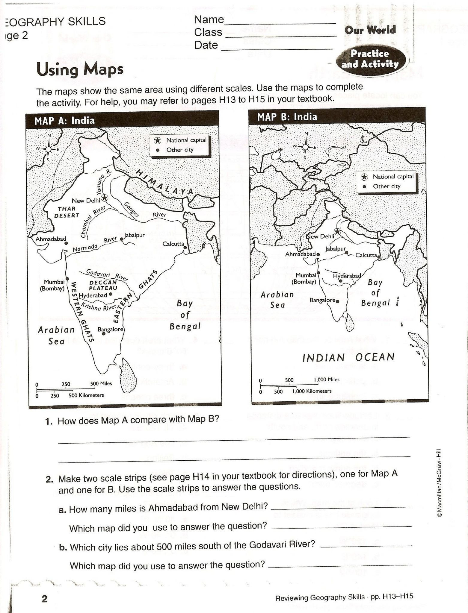 Map Skills Worksheets 6th Grade Map Skills Worksheets for Print Map Skills Worksheets