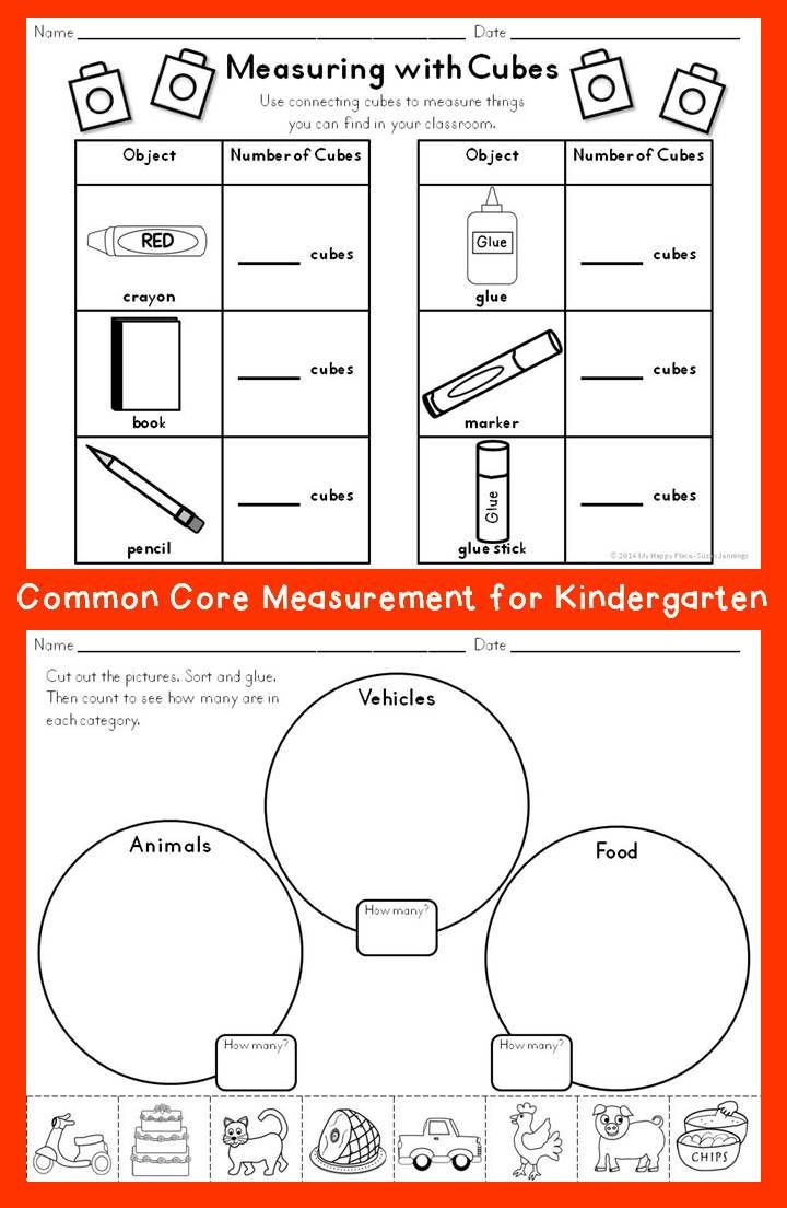 Measurement Worksheet Grade 1 Measurement for Kindergarten