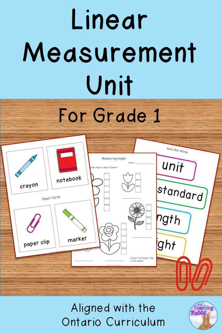 Measurement Worksheet Grade 1 This Linear Measurement Unit for Grade 1 is Based On the
