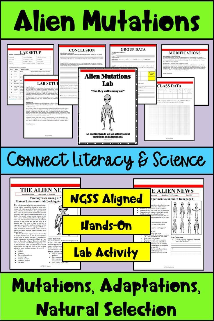 Mutations Worksheet Middle School Mutations & Adaptations Lab Ngss Middle School and High