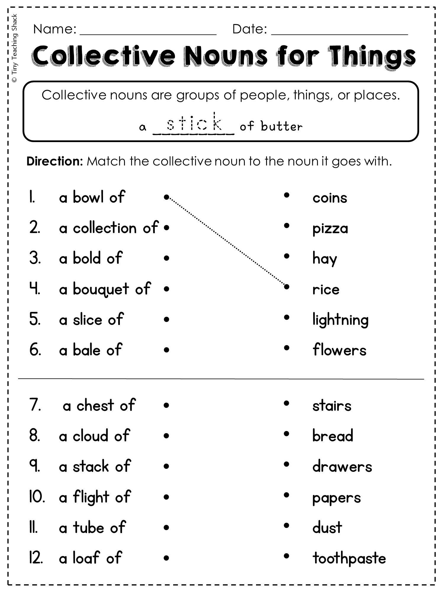 Noun Worksheets 2nd Grade 2nd Grade Language Arts and Grammar Practice Sheets Freebie
