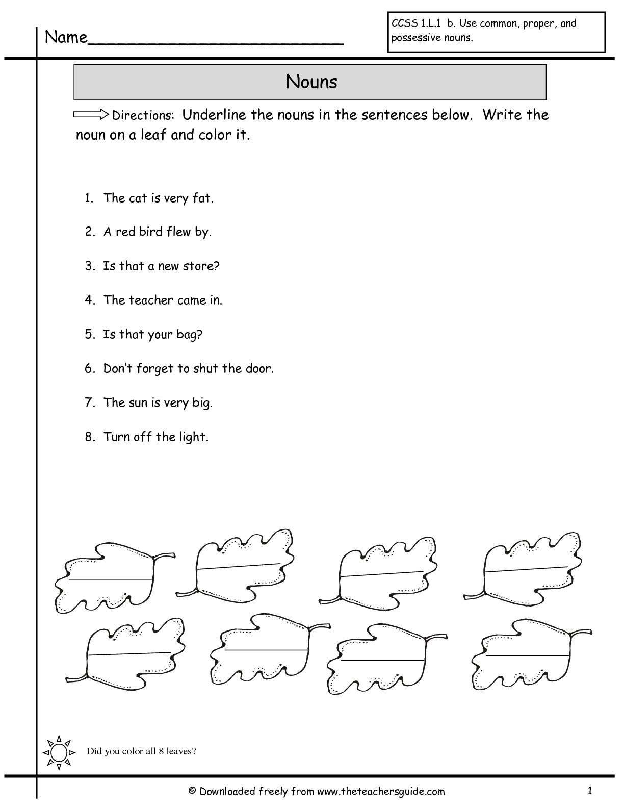 Noun Worksheets 2nd Grade Free Pronoun Worksheet for 2nd Grade