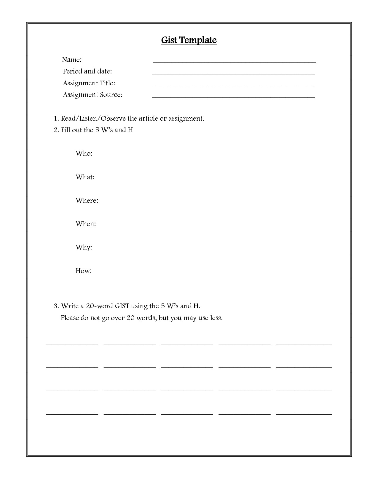 Paraphrasing Worksheet Middle School Free Paraphrasing Worksheets