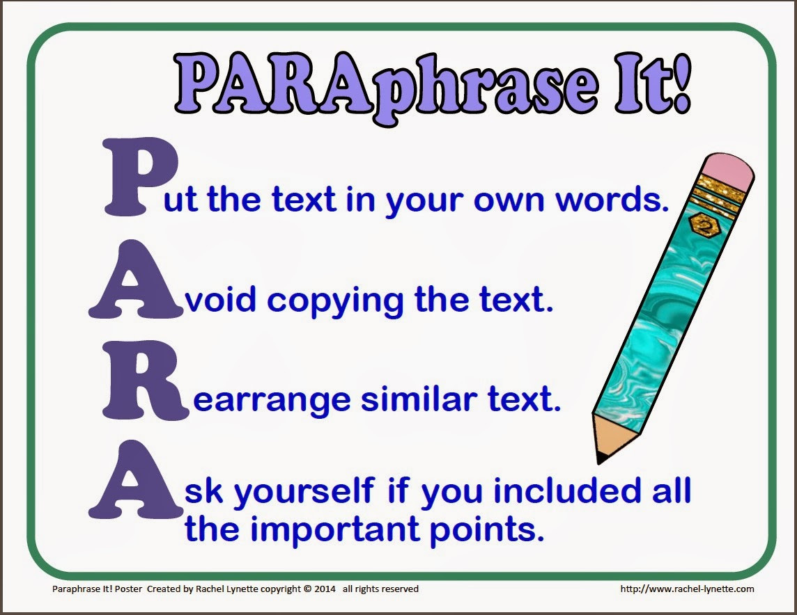 Paraphrasing Worksheet Middle School Teaching Kids to Paraphrase Step by Step Minds In Bloom