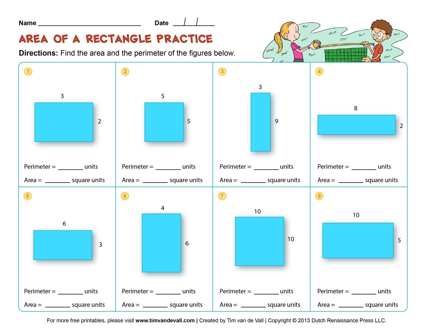 Perimeter Worksheets 3rd Grade Image Result for 3rd Grade area and Perimeter