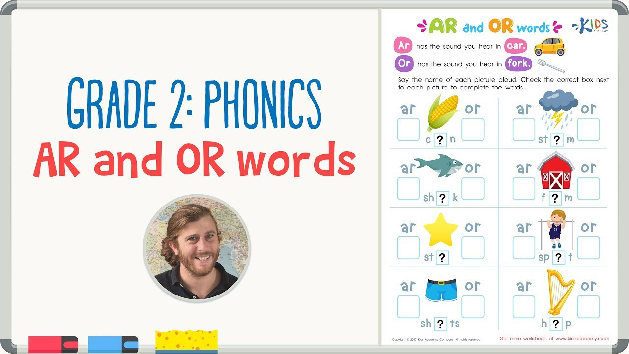 Phonic Worksheets Grade 2 Grade 2 Phonics Ar and or Words