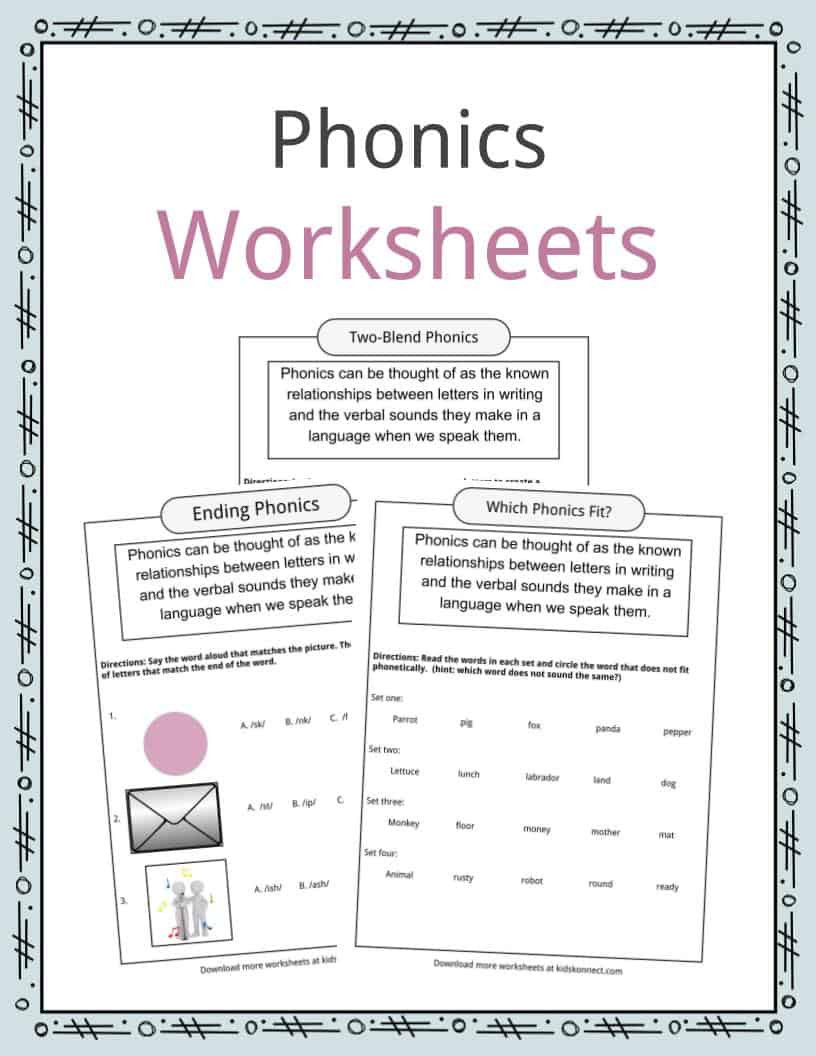 Phonics Worksheet Grade 2 Phonics Table Worksheets & Examples & Definition for Kids
