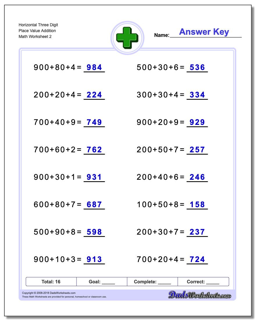 Place Value Worksheets 5th Grade Place Value Addition Worksheets