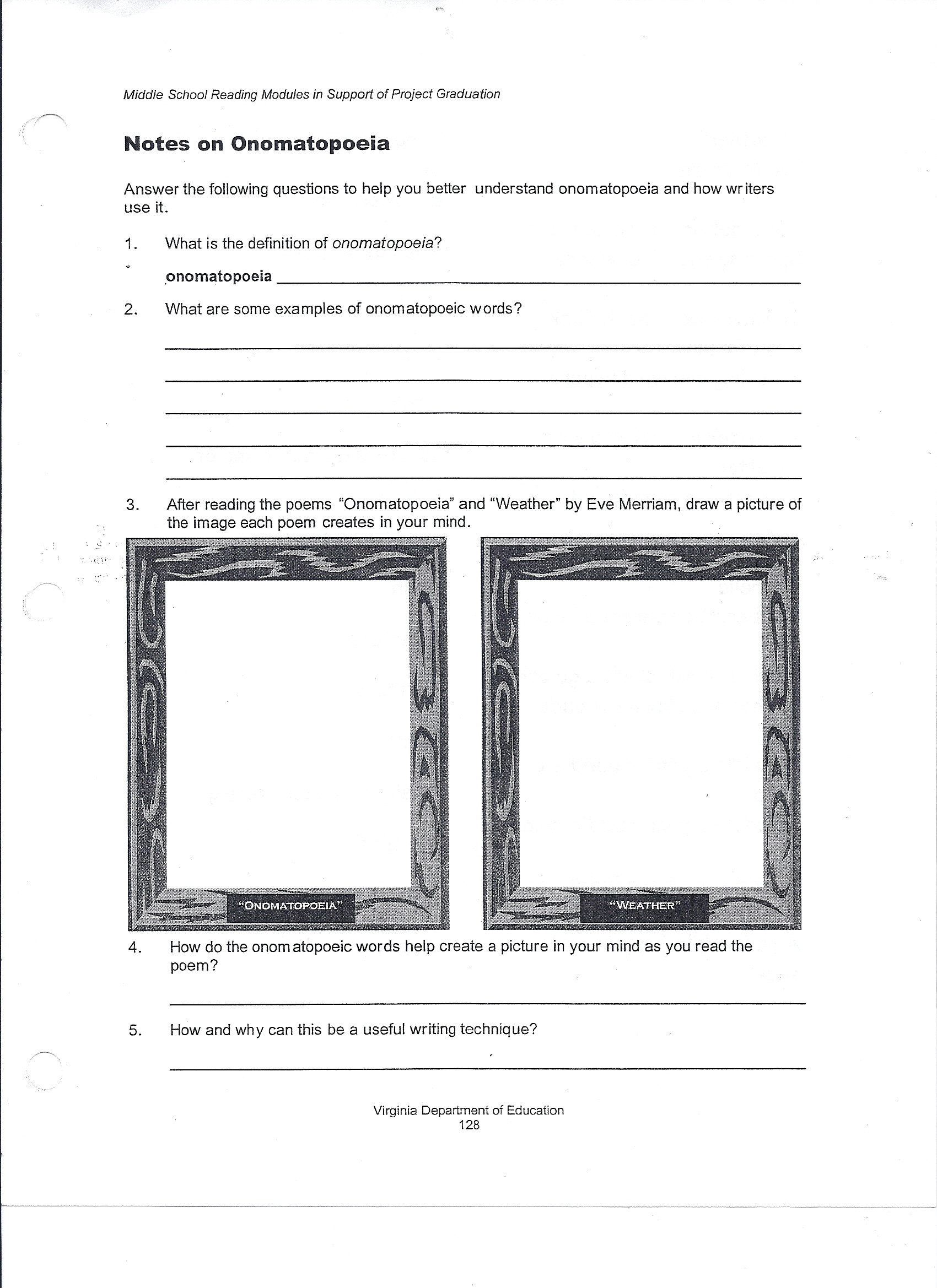 Poetry Worksheet Middle School Simile Worksheets for 6th Grade