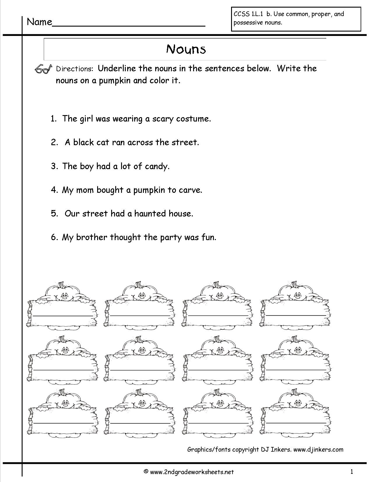 Possessive Noun Worksheet 2nd Grade Ppossessive Nouns Worksheet 2nd Grade