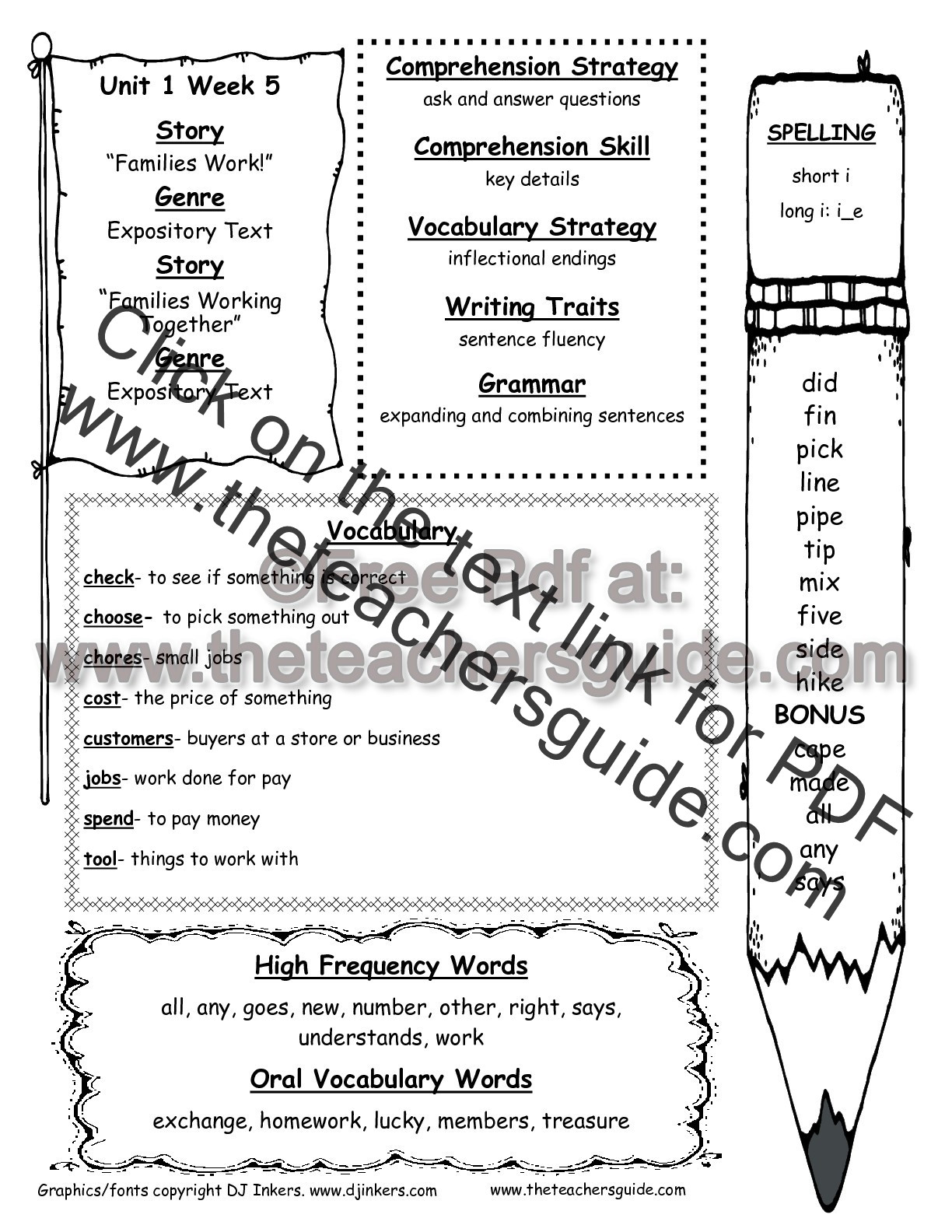 Possessive Noun Worksheet 2nd Grade Wonders Second Grade Unit E Week Five Printouts