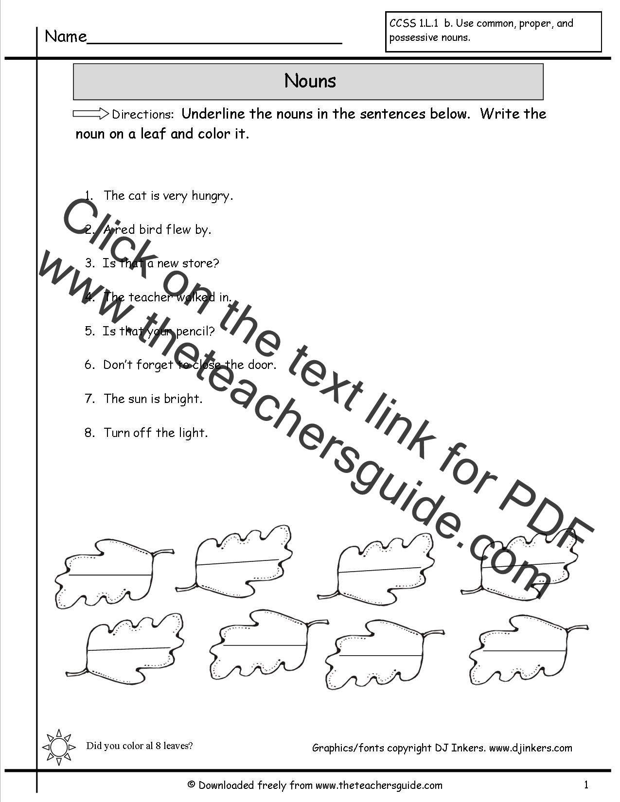 Possessive Nouns Worksheets 2nd Grade Possessive Noun Worksheet