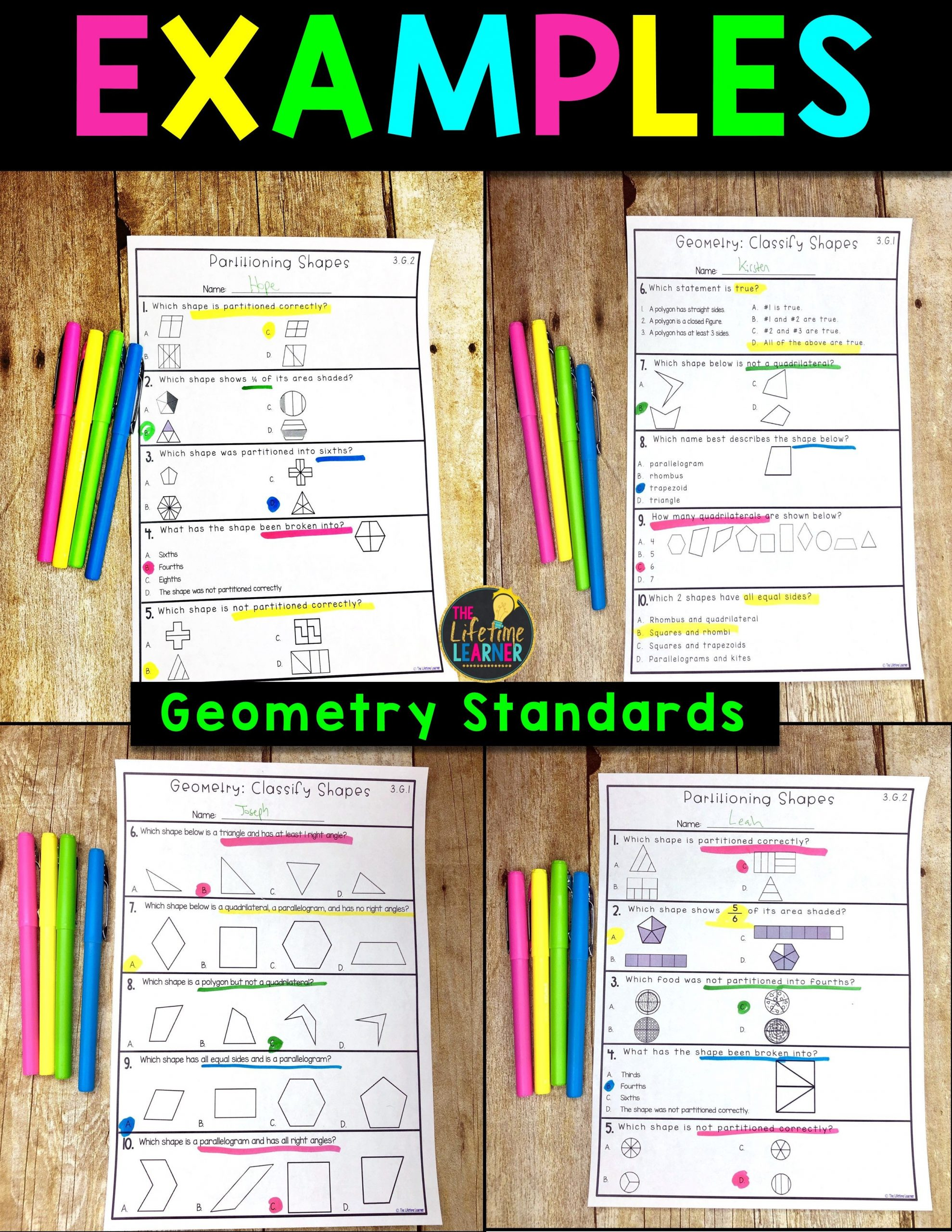 Quadrilaterals 3rd Grade Worksheets Quadrilateral Worksheets 3rd Grade