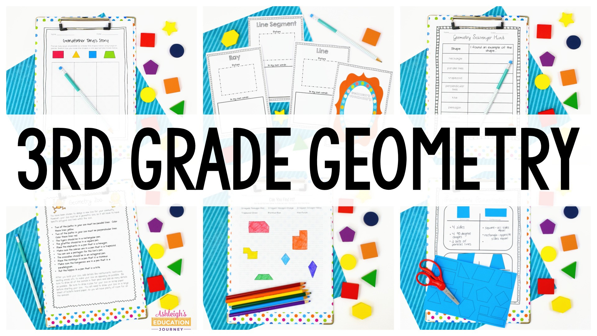 Quadrilaterals 3rd Grade Worksheets Third Grade Geometry ashleigh S Education Journey