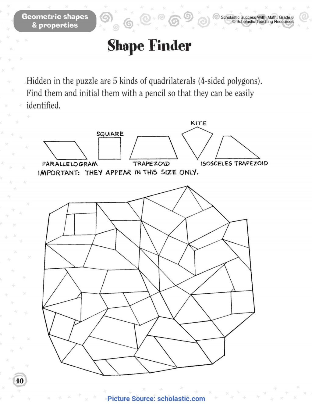 Quadrilaterals 3rd Grade Worksheets Worksheet Splendi 3rd Grade Geometry Worksheets Second Ota