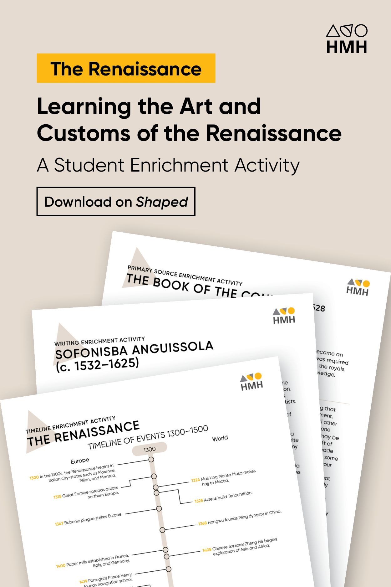 Renaissance Worksheets for Middle School Teaching the Renaissance World History Lesson Plan and