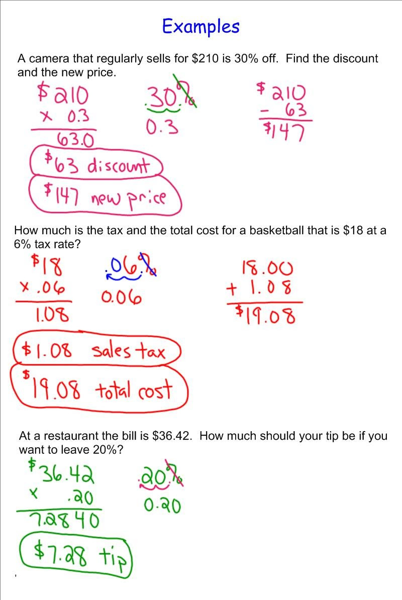 Sales Tax Worksheets 7th Grade Inspirational Sales Tax Math Problems Worksheet