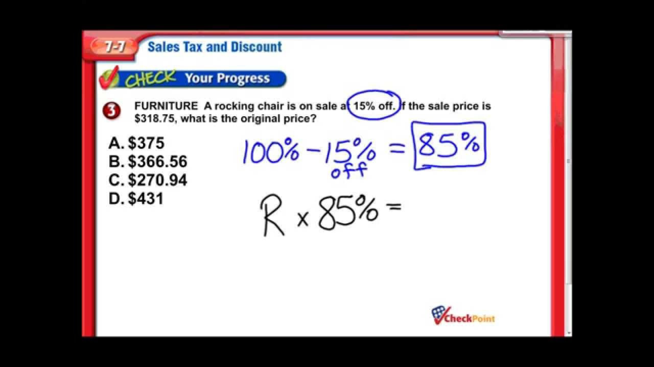 Sales Tax Worksheets 7th Grade Sales Tax & Discount Middle School Math