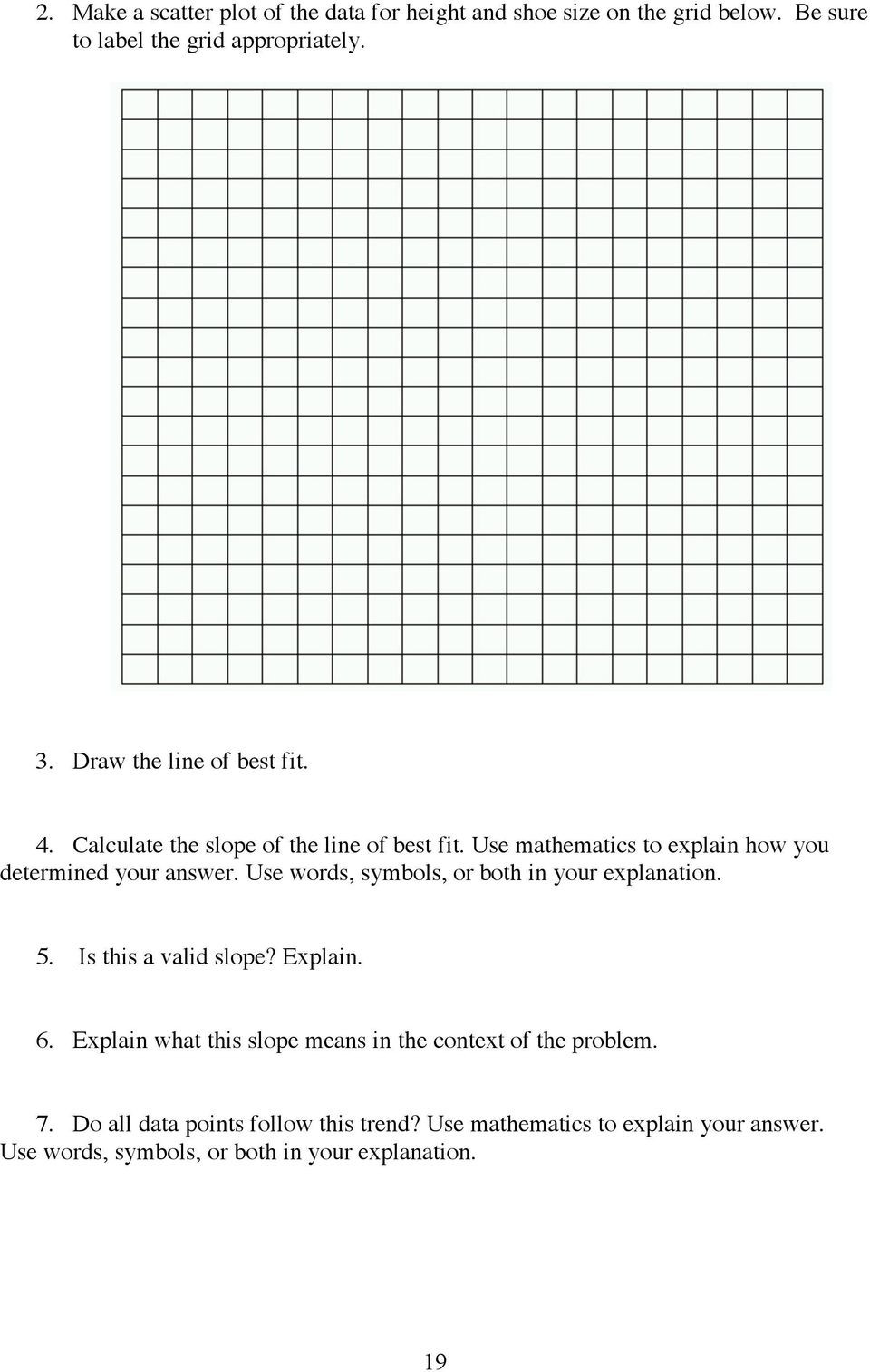 Scatter Plots Worksheets 8th Grade Title Line Of Best Fit Brief Overview Pdf Free Download