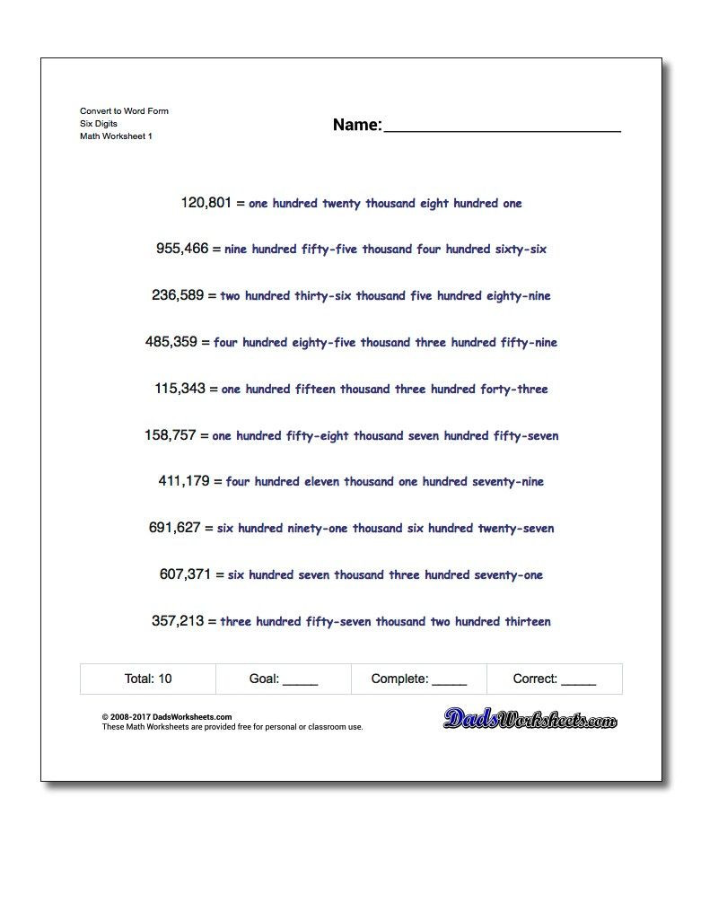 Science Fusion Grade 4 Worksheets Standard Expanded and Word form Practice Worksheets for