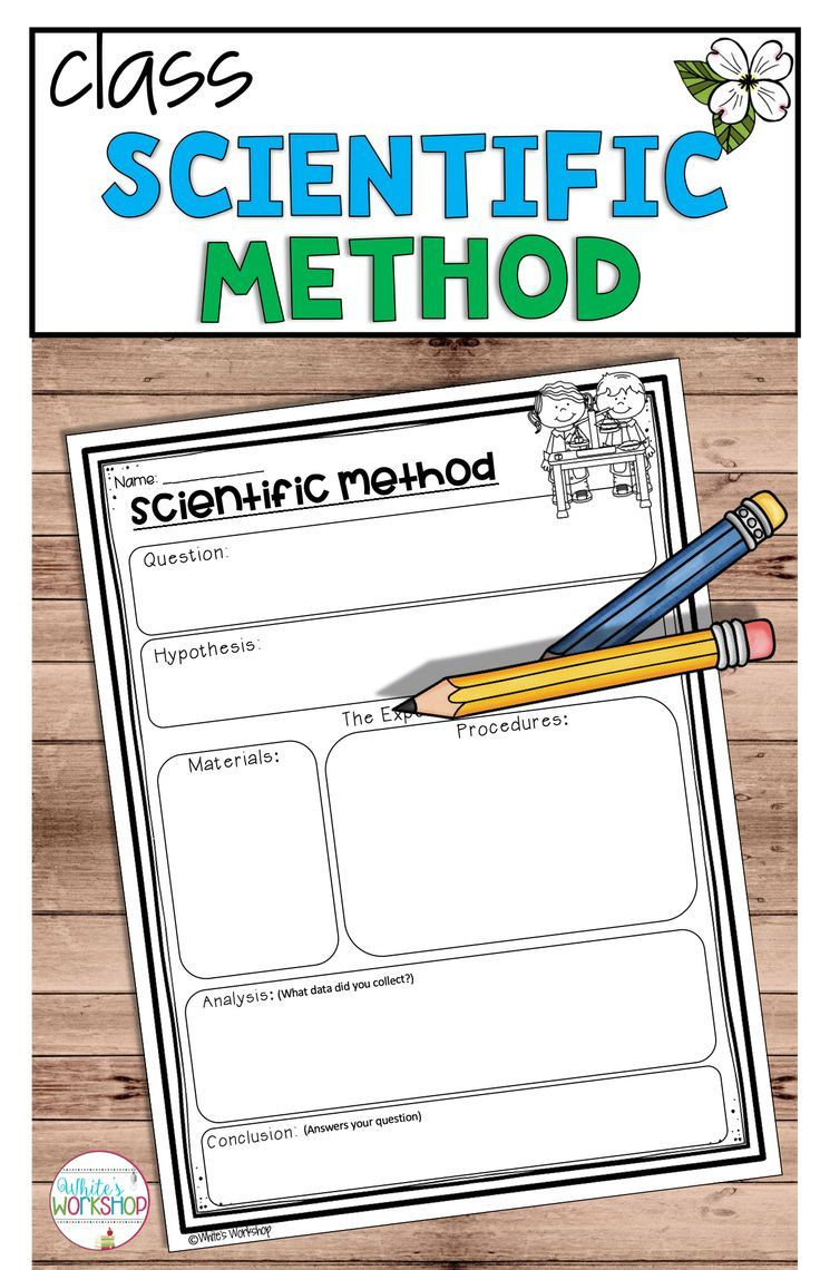 Scientific Method 3rd Grade Worksheet Scientific Method Posters and Worksheets with Images
