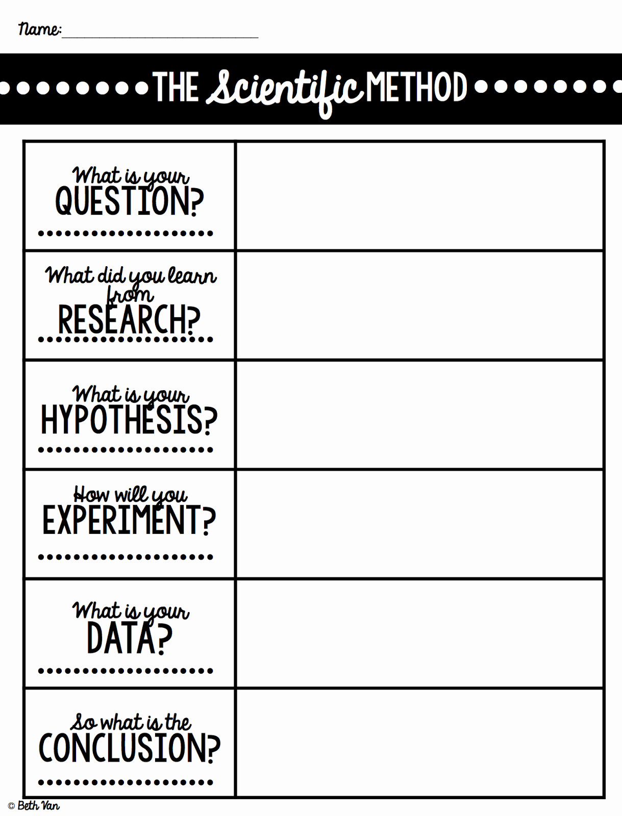 Scientific Method 3rd Grade Worksheet Scientific Method Worksheet Template