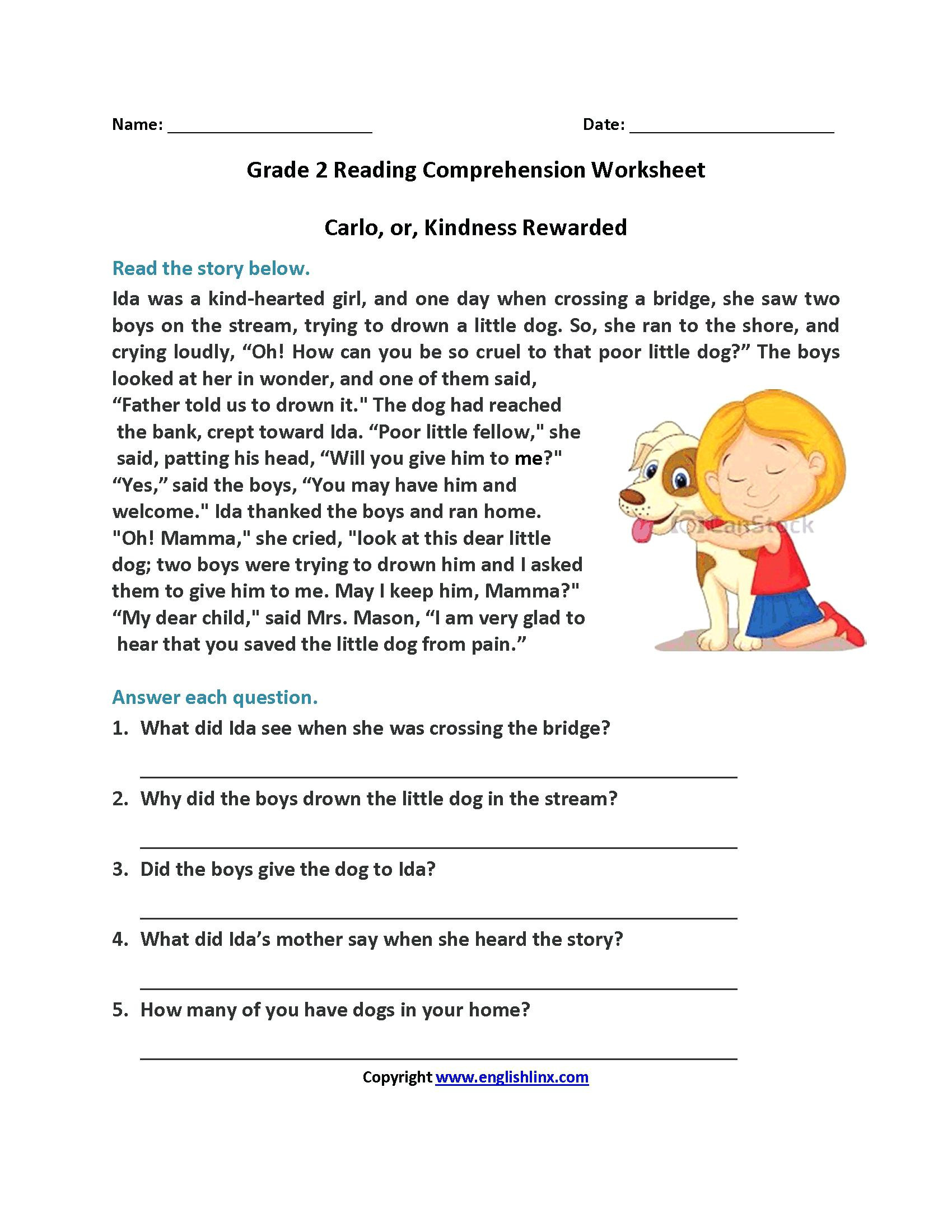 Second Grade Reading Worksheets Reading Activities for 2nd Grade – Timothyfregosoub
