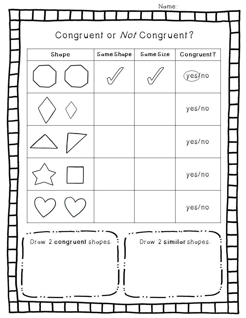 Shapes Worksheets for Grade 2 2 D Geometry Pack