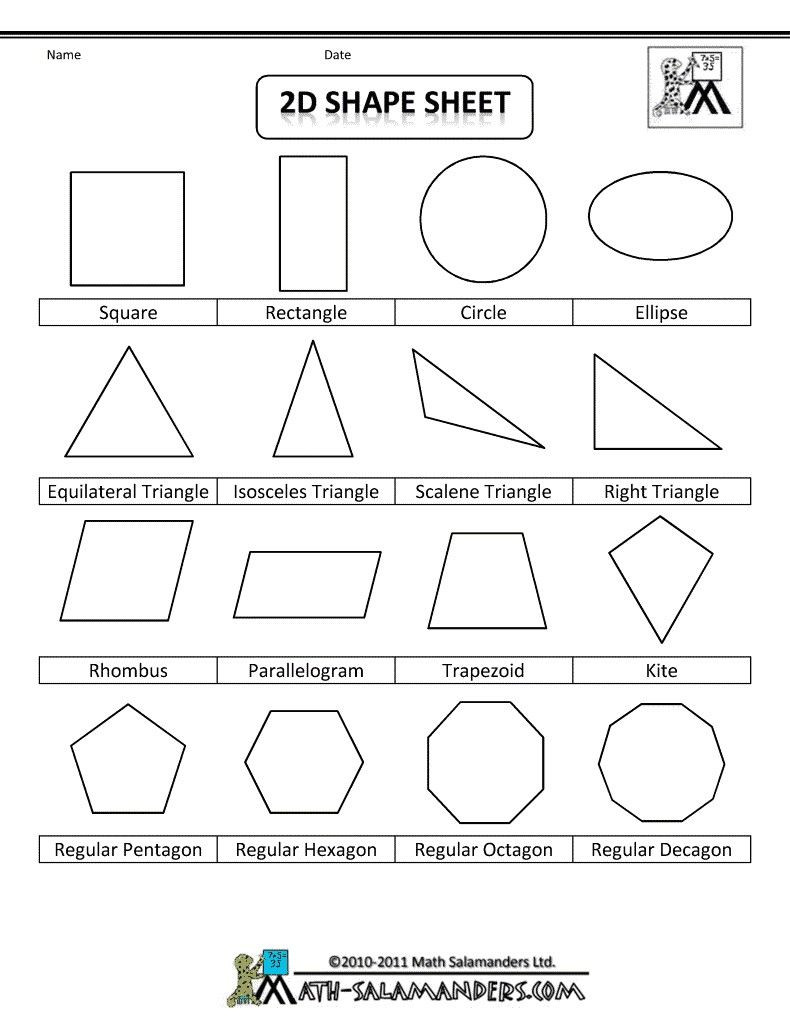 Shapes Worksheets for Grade 2 4 Worksheet Free Math Worksheets Second Grade 2 Geometry 3d
