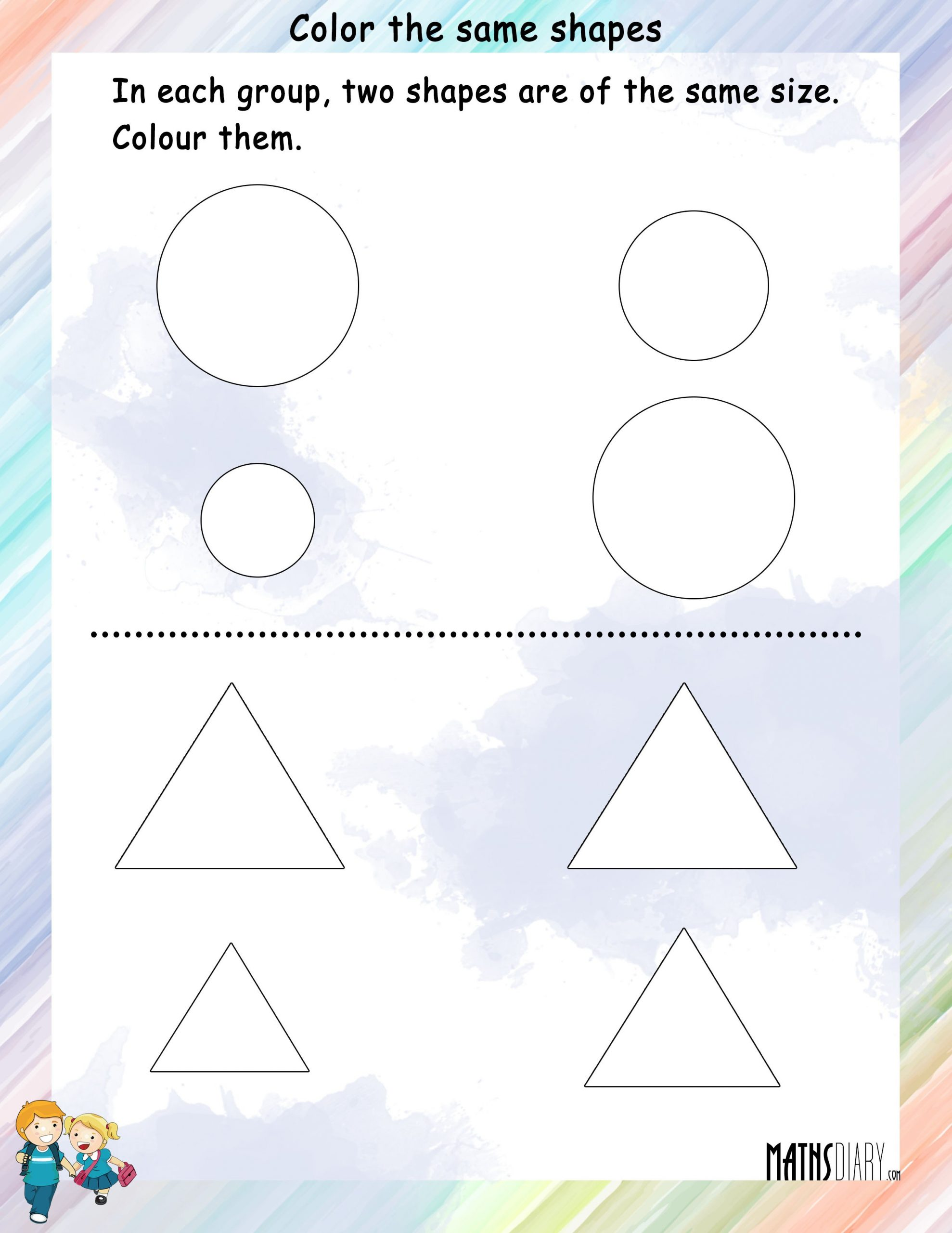 Shapes Worksheets for Grade 2 Shapes – Grade 1 Math Worksheets
