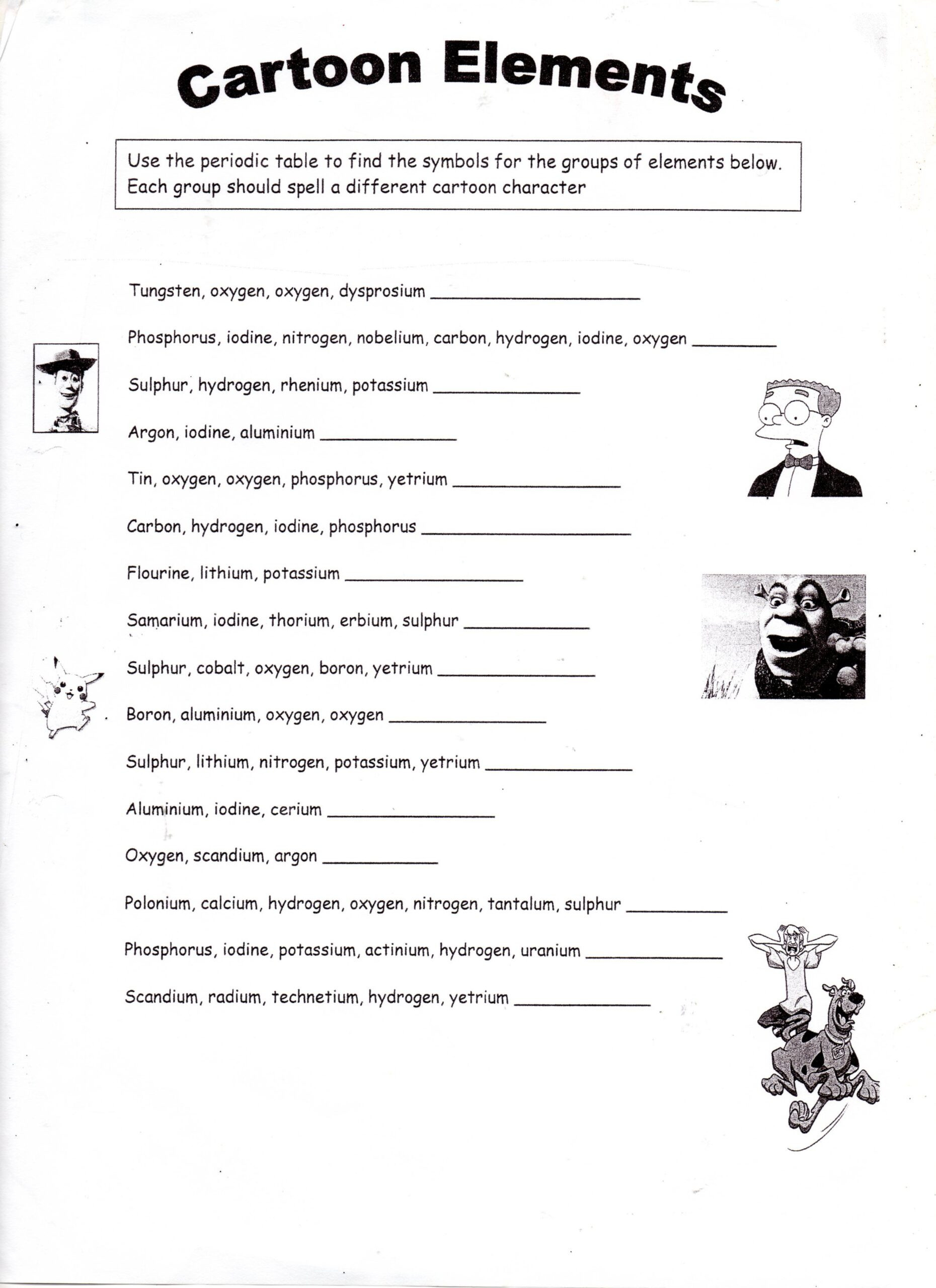 Simple Machine Worksheets Middle School Elements Worksheet Chemistry Worksheets Middle School