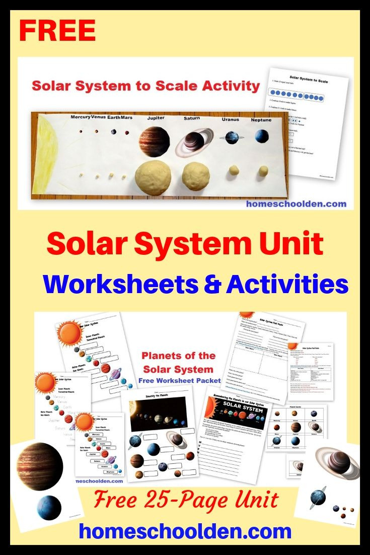 Solar System Worksheet Middle School Grab This Free 25 Page solar System with Free Worksheets and