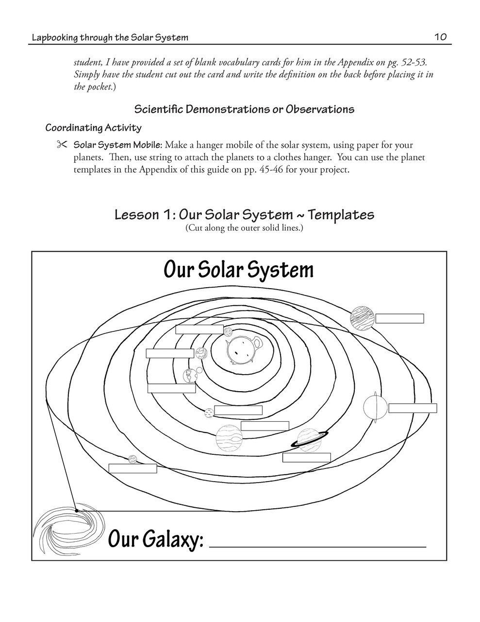 Solar System Worksheet Middle School Lapbooking Through solar System Ebook