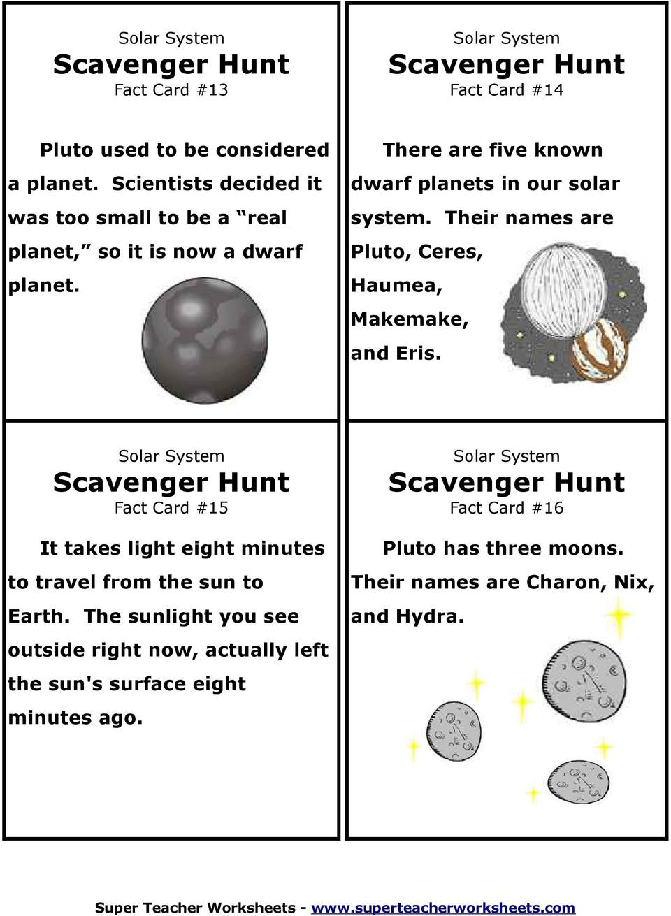 Solar System Worksheet Middle School Our solar System Scavenger Hunt Activity Pdf Free Download