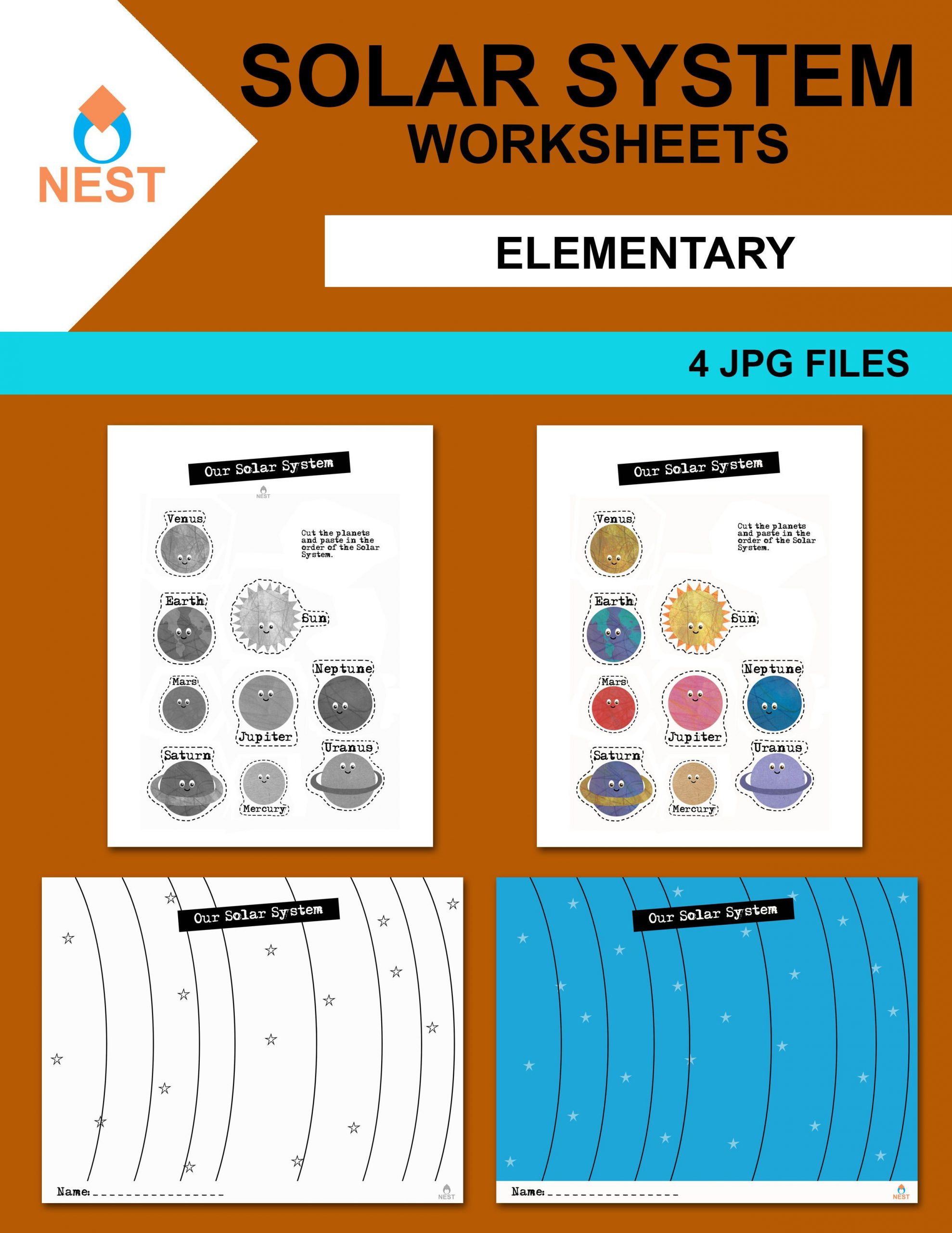 Solar System Worksheet Middle School Our solar System Worksheet En 2020