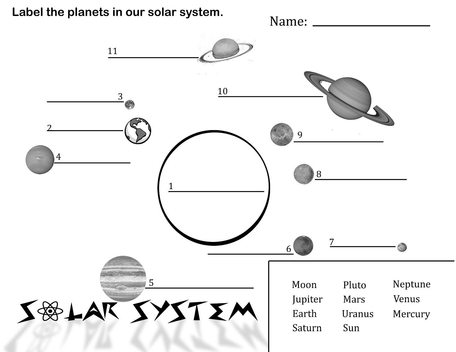 Solar System Worksheet Middle School Sergio S Classroom Printables