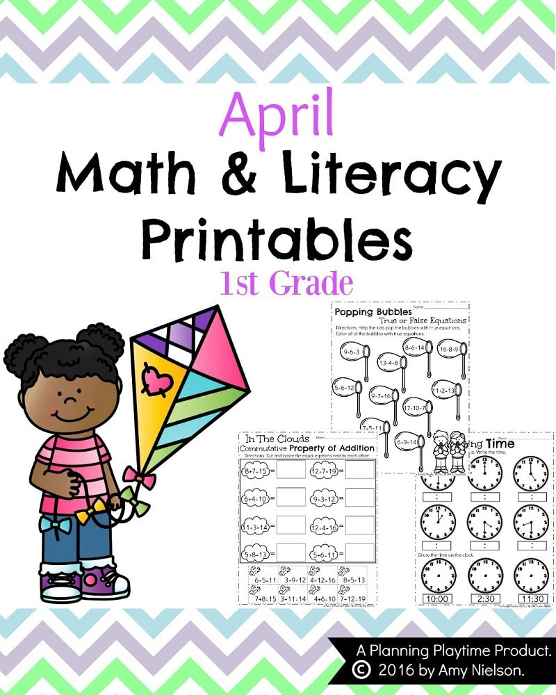 Spring Worksheets for 1st Grade April First Grade Worksheets Planning Playtime Fun Spring