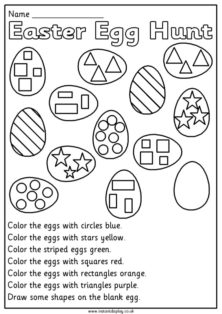 Spring Worksheets for 1st Grade Easter Mathematics Worksheets for 1st Grade First Eggmaths