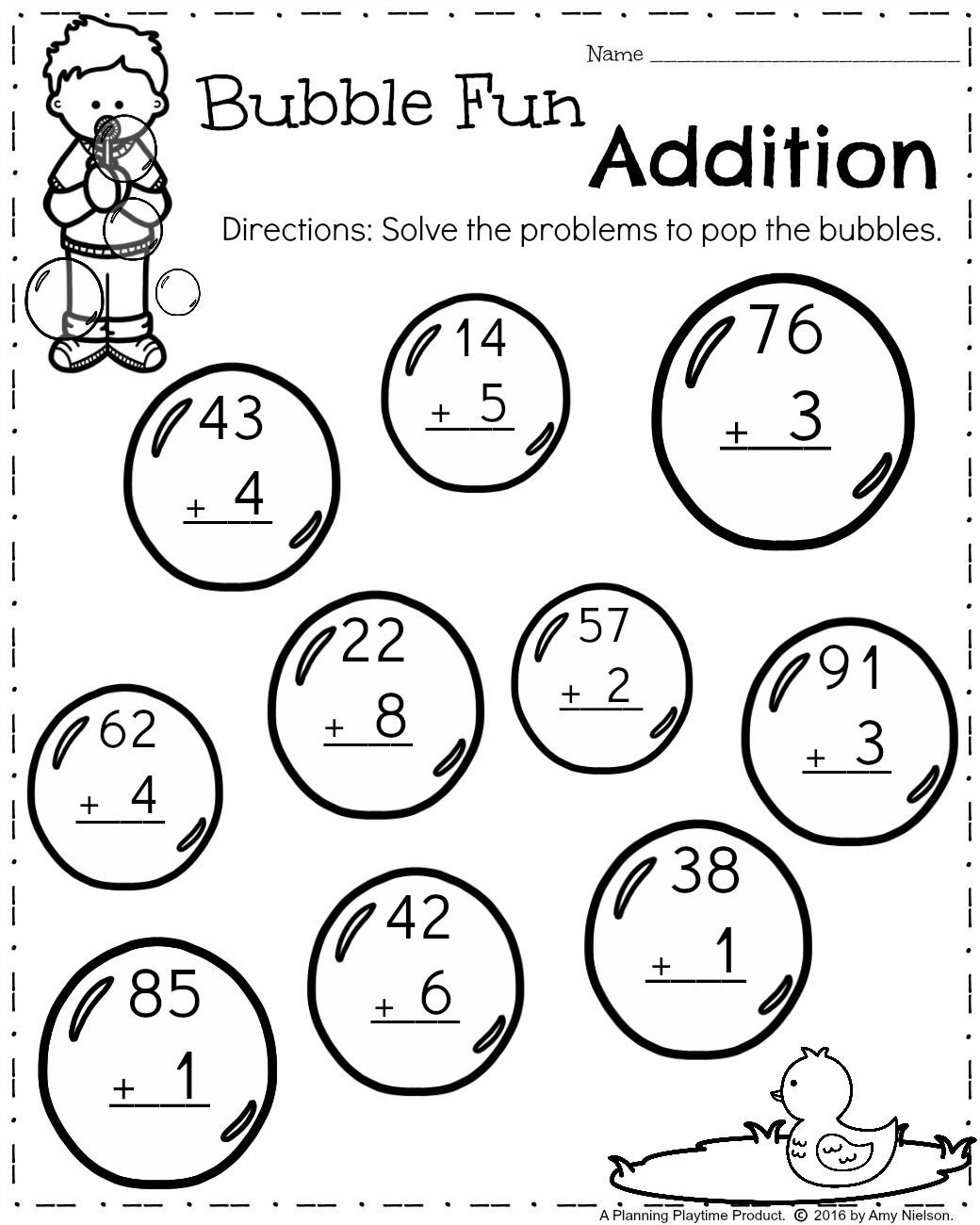 Spring Worksheets for 1st Grade First Grade Worksheets for Spring