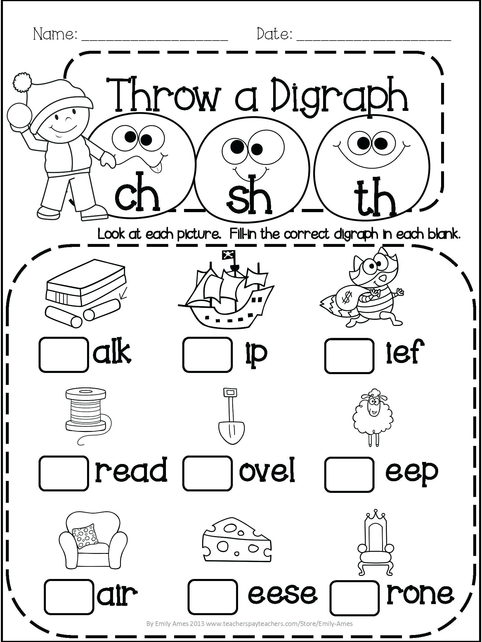 Spring Worksheets for 1st Grade Worksheet Ideas 1st Grade Math and Literacy Printables April