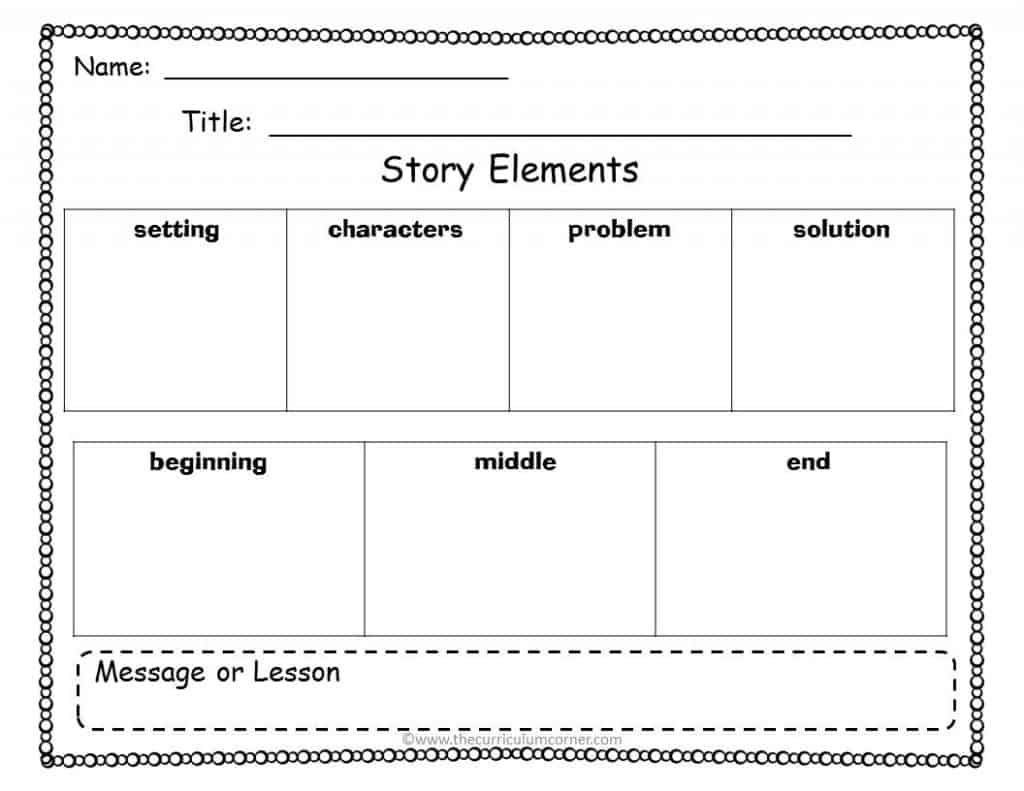 Story Elements Worksheets 4th Grade Free Graphic organizers