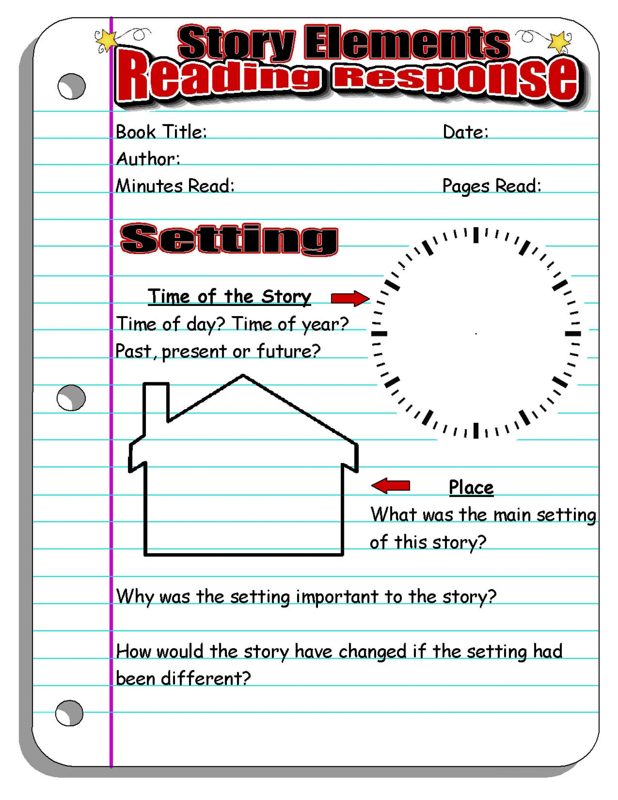 Story Elements Worksheets 4th Grade Story Elements Worksheets 4th Grade