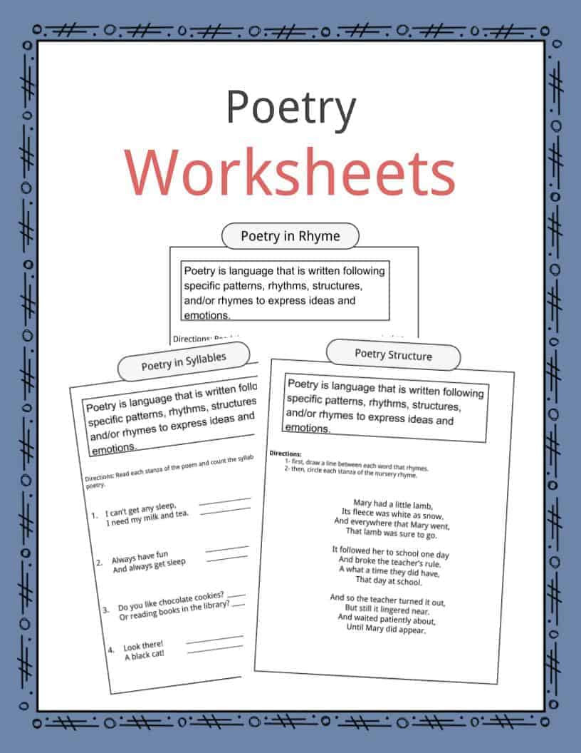 Symbolism Worksheets for Middle School Poetry Worksheets Definition & Examples for Kids
